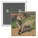 Botón del poster del béisbol del vintage pins