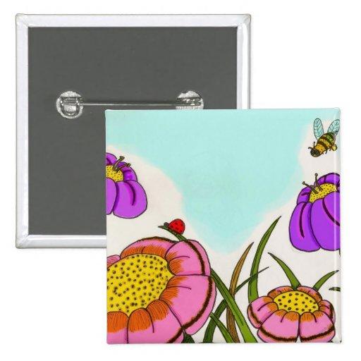 Botón del prado de la flor pin