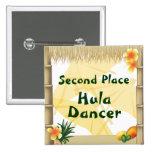 Botón del premio del bailarín de Hula del lugar de Pin