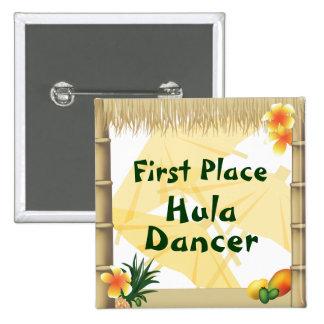 Botón del premio del bailarín de Hula del lugar