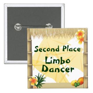 Botón del premio del bailarín del limbo del lugar  pin