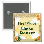 Botón del premio del bailarín del limbo del lugar  pins