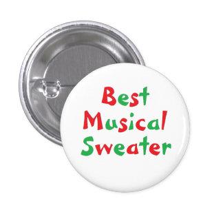 """Botón del premio del """"mejor suéter musical"""" pin redondo de 1 pulgada"""