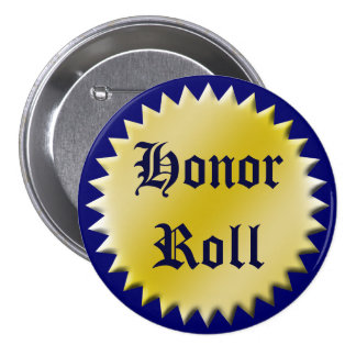 Botón del premio del rollo de honor, personalizabl pins