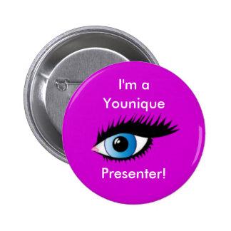 Botón del presentador de Younique Pin Redondo De 2 Pulgadas