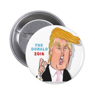 Botón del presidente 2016 caricatura de Donald Pin Redondo De 2 Pulgadas