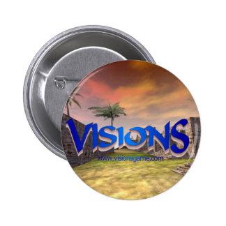 Botón del promo de las visiones pin redondo de 2 pulgadas