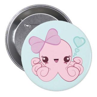 Botón del pulpo de Kawaii