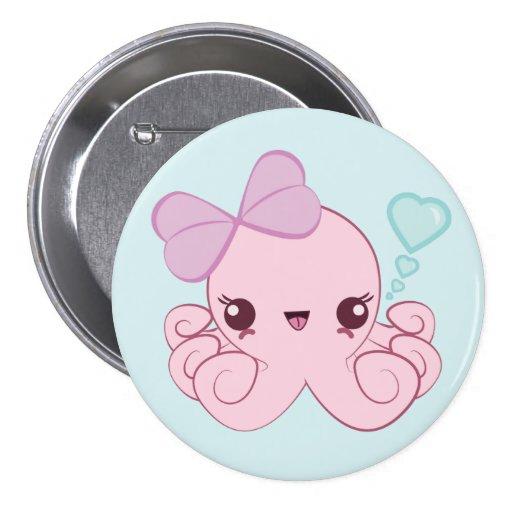 Botón del pulpo de Kawaii Pins