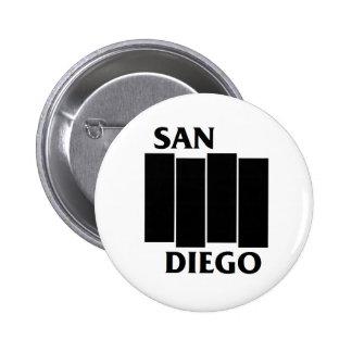 Botón del punk de la parodia de San Diego/de la Pin Redondo De 2 Pulgadas