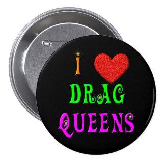 Botón del Queens de fricción del amor de la Pin Redondo De 3 Pulgadas