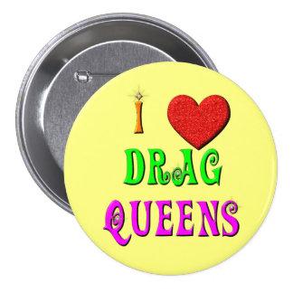 Botón del Queens de fricción del amor del KRW I Pin Redondo De 3 Pulgadas