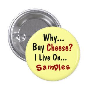 Botón del queso pin redondo de 1 pulgada