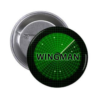 Botón del radar del Wingman Pin Redondo De 2 Pulgadas