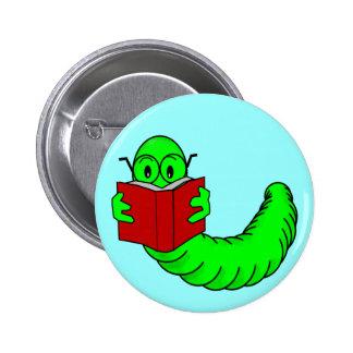 Botón del ratón de biblioteca pin redondo de 2 pulgadas