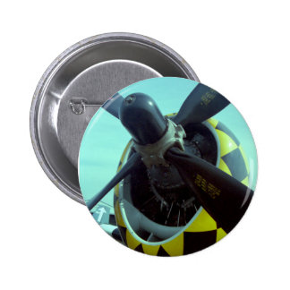 Botón del rayo P-47 Pin Redondo De 2 Pulgadas