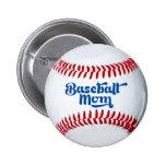 Botón del regalo de la mamá del béisbol pin