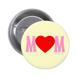 Botón del regalo del día de madre del amor de la pin redondo de 2 pulgadas