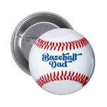 Botón del regalo del papá del béisbol pin