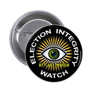 Botón del reloj de la integridad de la elección pins