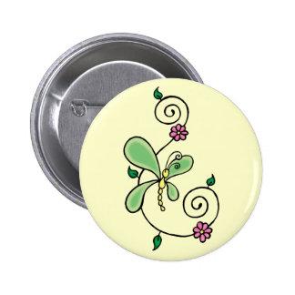 Botón del remolino de la flor de mariposa