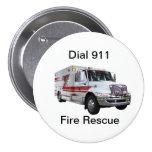 Botón del rescate del fuego pin