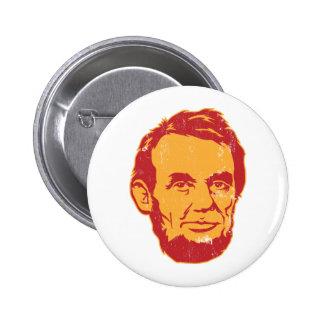 Botón del retrato de Abraham Lincoln Pin Redondo De 2 Pulgadas