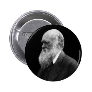 Botón del retrato de Darwin Pin Redondo De 2 Pulgadas