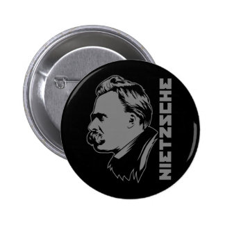 Botón del retrato de Frederich Nietzsche Pins