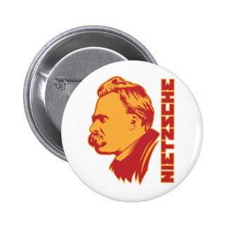 Botón del retrato de Frederich Nietzsche Pin Redondo De 2 Pulgadas