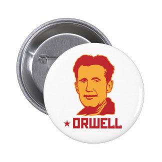 Botón del retrato de George Orwell Pin Redondo De 2 Pulgadas