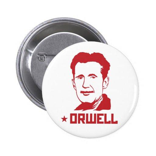 Botón del retrato de George Orwell Pins