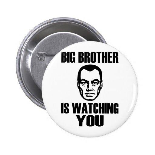 Botón del retrato de hermano mayor pin
