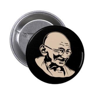 Botón del retrato de Mahatma Gandhi
