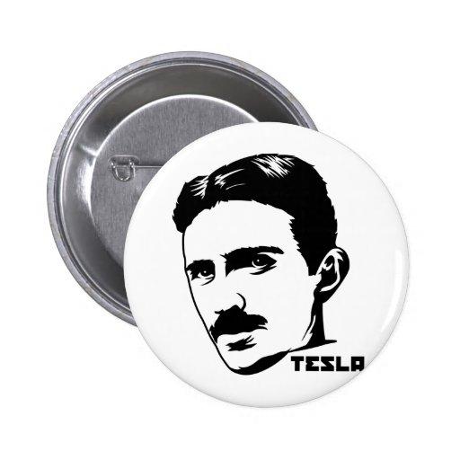 Botón del retrato de Nikola Tesla Pin