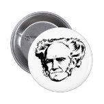 Botón del retrato de Schopenhauer Pin