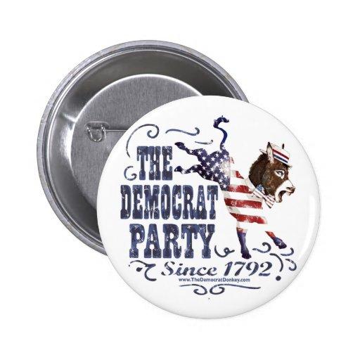 Botón del retroceso de los E.E.U.U. del burro Pin Redondo De 2 Pulgadas