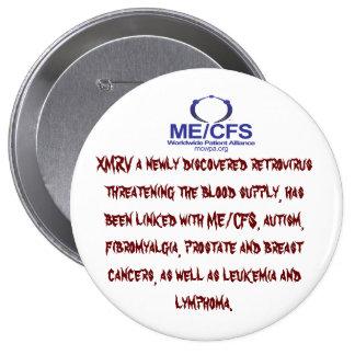 Botón del Retrovirus de MCWPA Pin Redondo De 4 Pulgadas