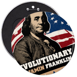 Botón del revolucionario de Benjamin Franklin Pin