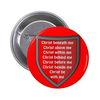 Botón del rezo del peto de San Patricio Pin Redondo De 2 Pulgadas