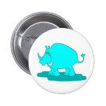 Botón del rinoceronte pins