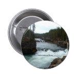 Botón del río Yellowstone Pin