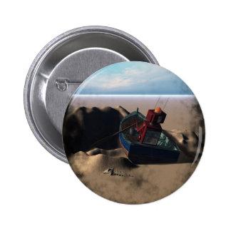 Botón del robot del barco de fila pin redondo de 2 pulgadas