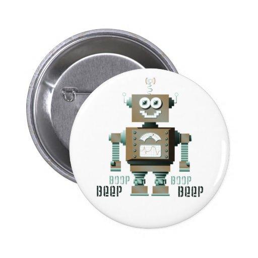 Botón del robot del juguete de la señal sonora de