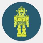 botón del robot etiquetas redondas