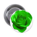 Botón del rosa verde pin