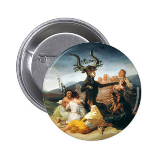 Botón del Sabat de las brujas de Goya Pin Redondo De 2 Pulgadas