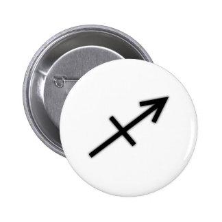 Botón del sagitario pins