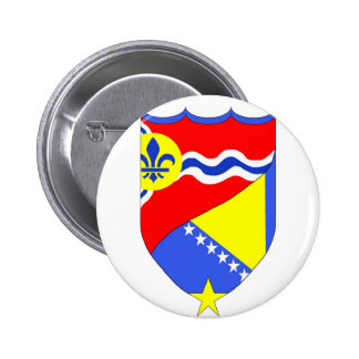 Botón del Saint Louis Missouri y de Brcko Bosnia Pin Redondo De 2 Pulgadas