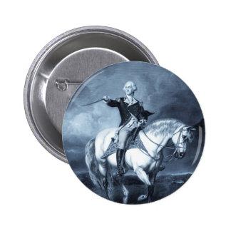 Botón del saludo de George Washington Pin Redondo De 2 Pulgadas